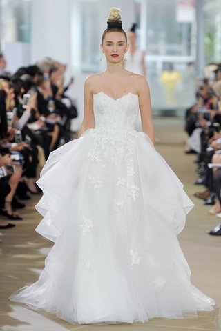 ines-di-santo-spring-2018-strapless-sweetheart-natural-waist-a-line-flounce-appliques