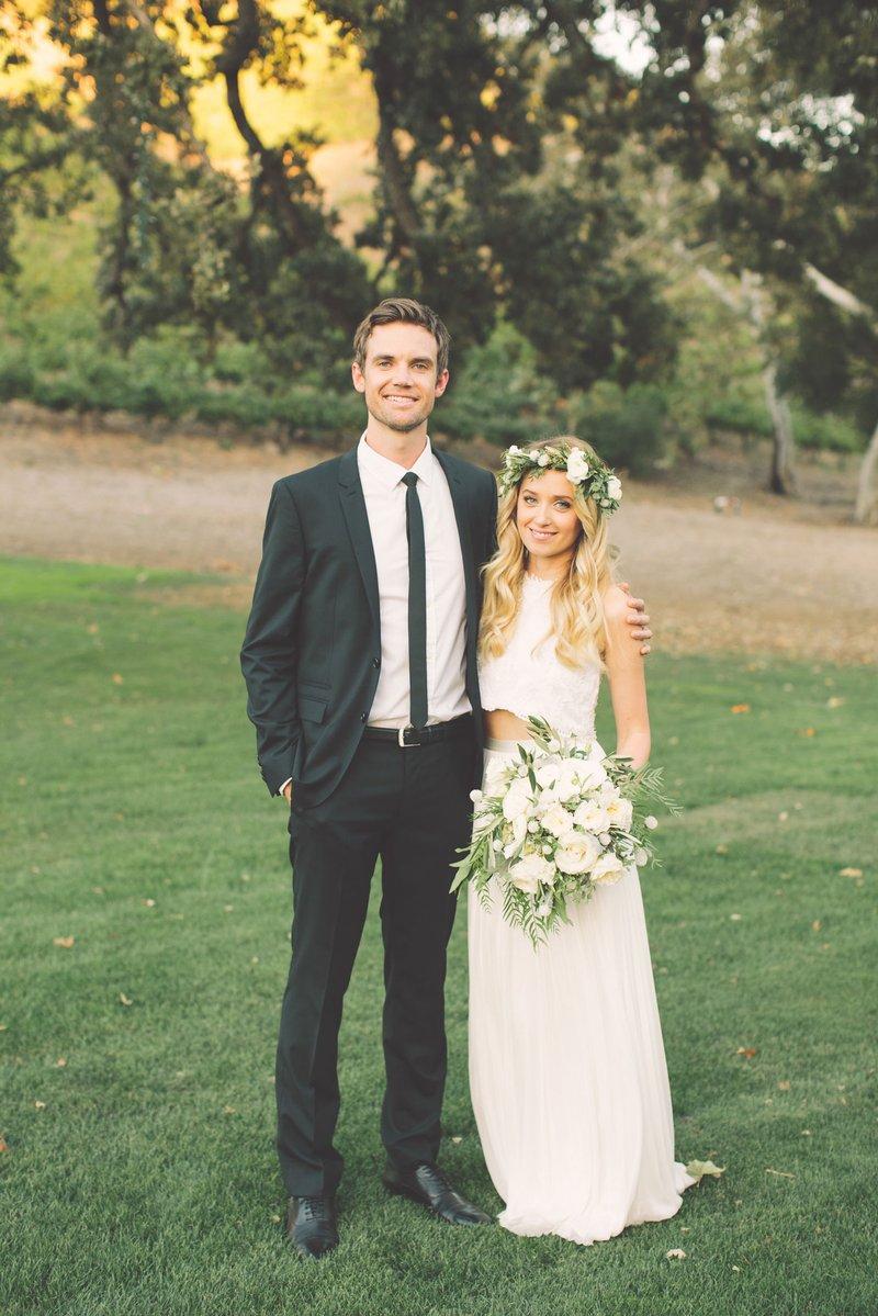 Megan Park & Tyler Hilton Wedding Photo