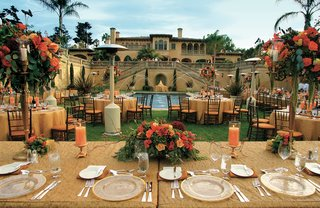 gold-tables-in-backyard-of-italian-renaissance-style-estate