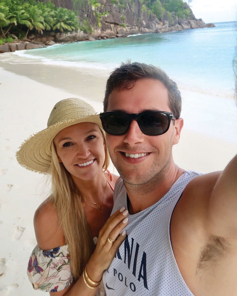 Honeymooners in the Seychelles