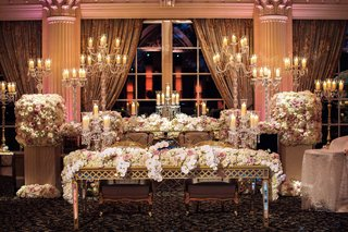 wedding-reception-ballroom-in-new-jersey-for-tracy-morgan-wedding-flower-runner-sweetheart-table