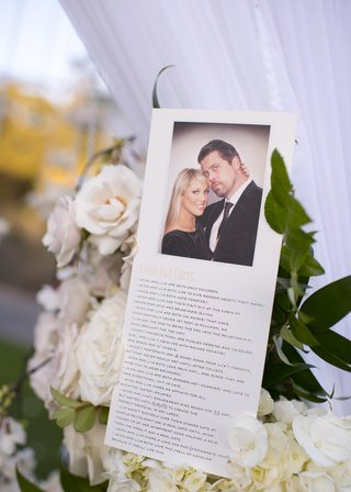 ceremony-program-with-fun-facts-about-the-bride-and-groom