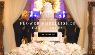 wedding-cake-table-ideas-with-flower-covered-tables-and-stands