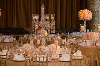 drake-hotel-gold-coast-ballroom-crystal-candelabra-blush-gold-and-ivory-wedding