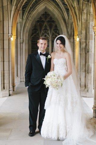 bride-and-groom-outside-of-duke-university-chapel