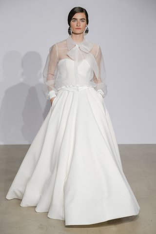 justin-alexander-fall-2018-clean-crepe-sweetheart-ball-gown-with-sheer-blouse