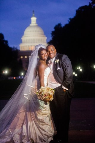 african-american-bride-and-groom-at-u-s-capitol