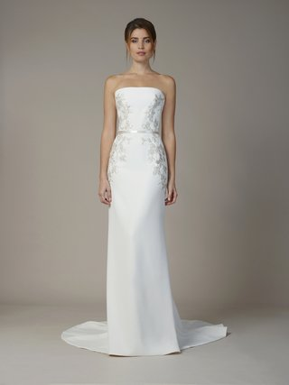 liancarlo-fall-2018-vine-embroidery-french-tulle-sequins-ruched-drop-torso-strapless-sheath-gown