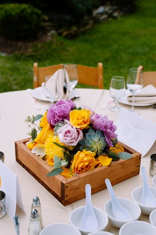 wood-box-centerpiece-with-succulents-and-roses