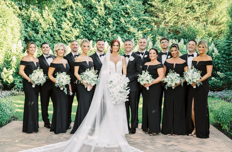 Formal Wedding Party in All Black