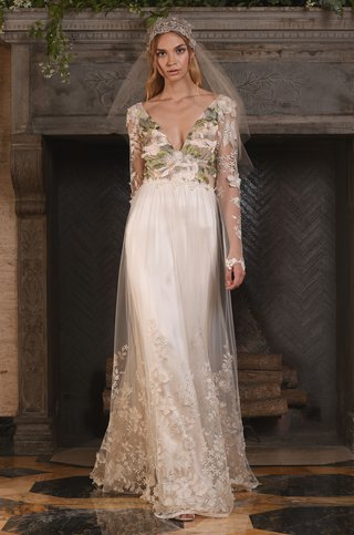 claire-pettibone-fall-2017-primavera-long-sleeve-blush-floral-bodice-tulle-embroidered-skirt