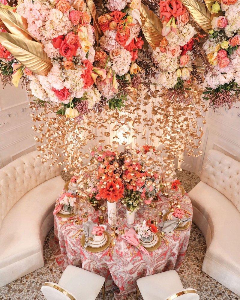 Coral Wedding Table Design