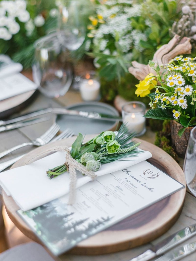 Place Setting at Rustic Wedding