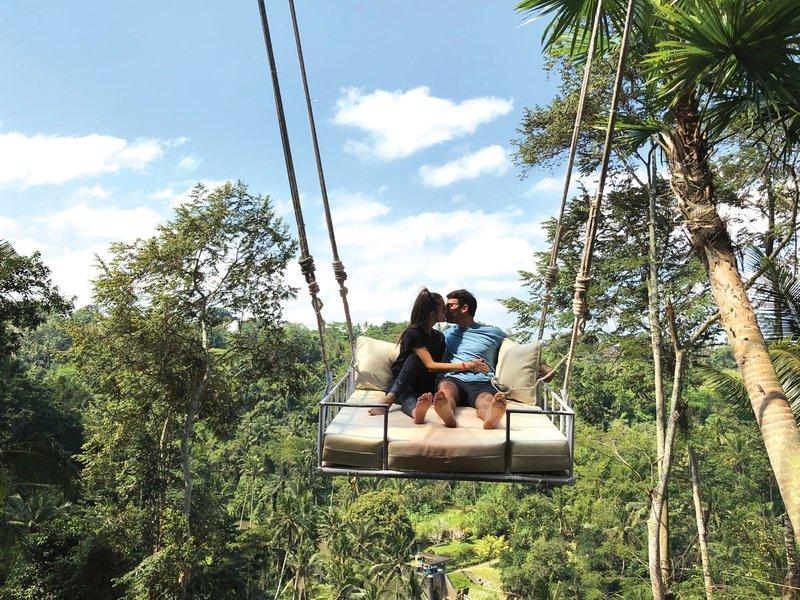 Newlyweds on Famous Bali Swing