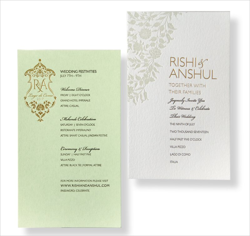Mint Green Invitation by Azure Paper