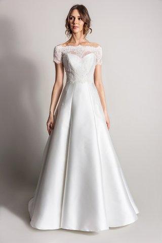 lace-off-the-shoulder-neckline-with-a-line-wedding-dress