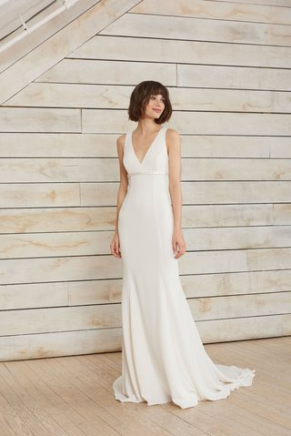 frankie-by-nouvelle-amsale-spring-2018-v-neck-crepe-gown-charmeuse-trim-and-open-back-bow-detail