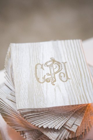 custom-wedding-cocktail-napkins-with-monogram-made-to-look-like-bark