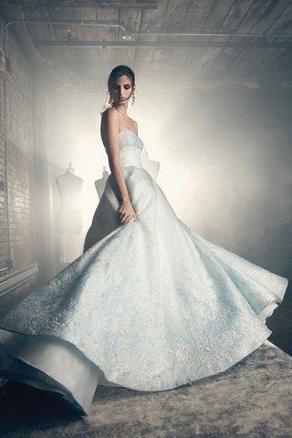 sareh-nouri-fall-2018-wedding-dress-eliza-strapless-light-blue-wedding-dress-ball-gown-jacquard