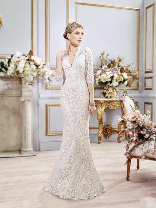 three-quarter-sleeve-val-stefani-spring-2016-wedding-dress