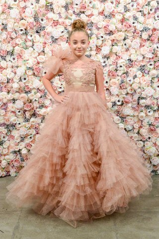 michael-costello-flower-girl-dress-embroidered-bodice-tulle-shoulder-and-ruffle-skirt