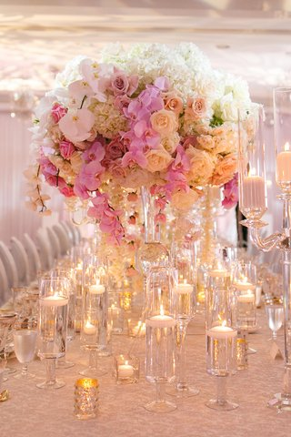 wedding-centerpiece-with-white-hydrangeas-white-roses-white-orchids-blush-roses-pink-orchids