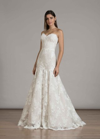 liancarlo-fall-2016-strapless-lace-trumpet-wedding-dress