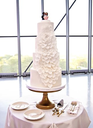 four-tier-wedding-cake-with-fondant-flower-of-cascading-petals