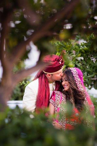 bride-in-lehenga-and-groom-in-sherwani-for-vibrant-hindu-wedding-ceremony