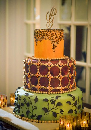 colorful-wedding-cake-with-festive-patterns