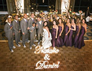 african-american-wedding-party-on-dance-floor