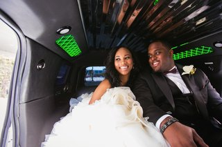 nfl-player-brandon-mebane-in-limo-with-bride