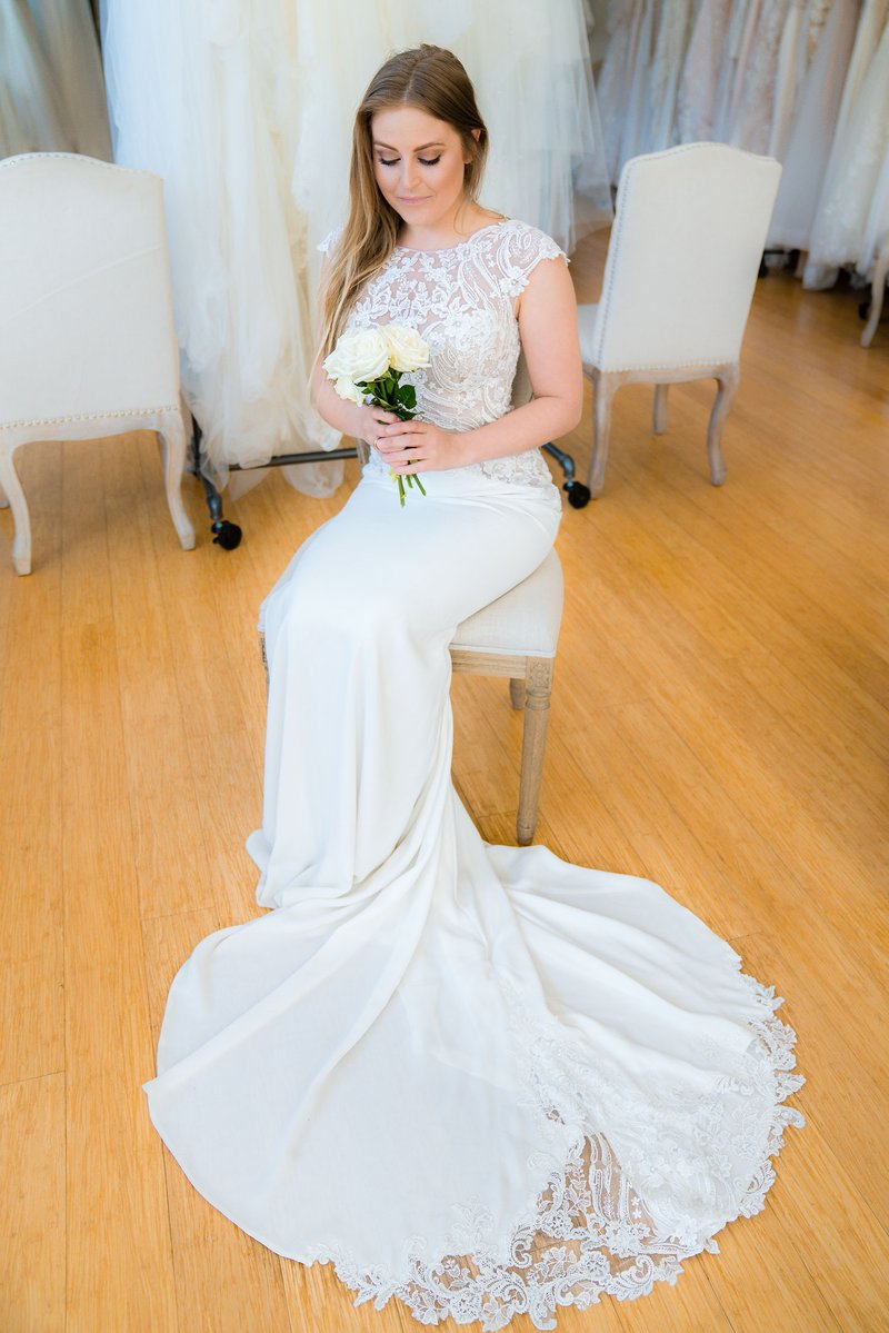 Bride with Rose at The Boutique by B.Belle Events