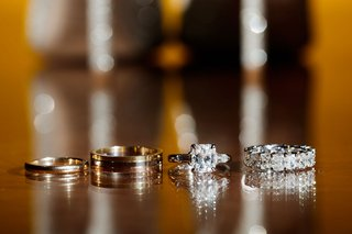 wedding-rings-for-groom-and-engagement-ring-radiant-baguette-two-side-stones-eternity-band-diamonds