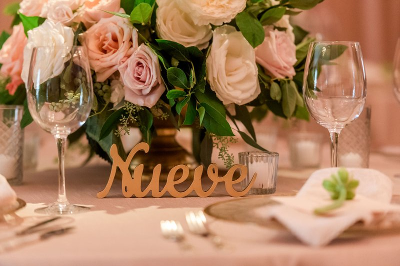 Spanish Table Number
