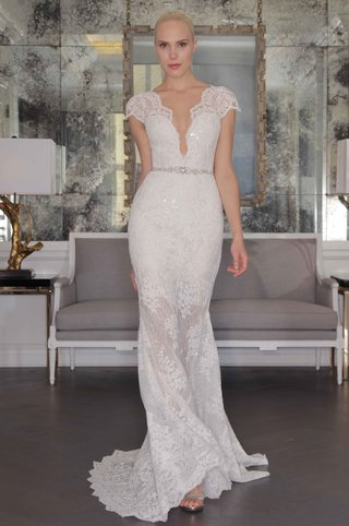 romona-keveza-luxe-bridal-fall-2016-lace-wedding-dress-with-cap-sleeves