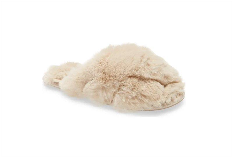 Joules Slumber Faux Fur Slippers