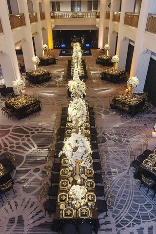 renaissance-hotel-cincinnati-wedding-with-black-gold-and-ivory-decor