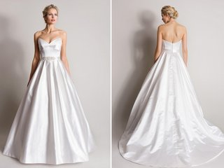 bold-strapless-ball-gown-with-pleats-from-suzanne-neville
