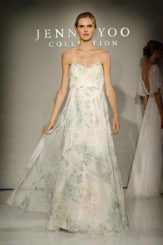 jenny-yoo-bridal-2016-strapless-flower-print-wedding-dress