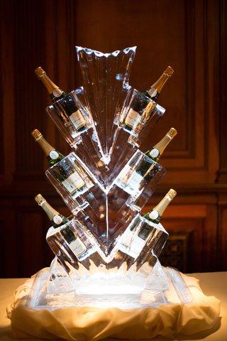 wedding-reception-ice-sculpture-geometric-art-deco-theme-vintage-inspired