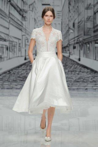 justin-alexander-spring-summer-2017-v-neck-lace-short-sleeve-bodice-silk-tea-length-skirt-pockets