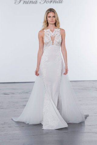 pnina-tornai-for-kleinfeld-2018-wedding-dress-high-neck-gown-cape-skirt-train-embroidery