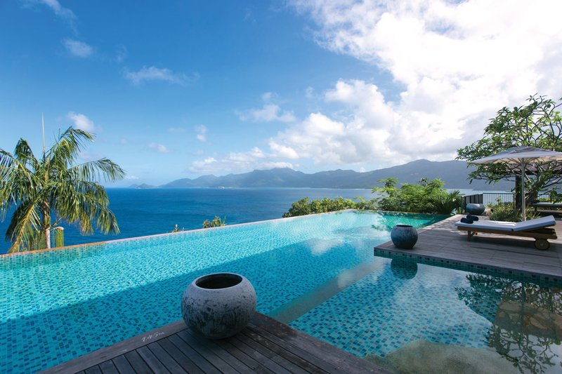 View of Ocean from Pool at Six Senses Zil Pasyon