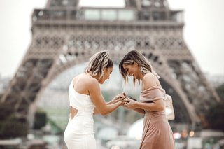 LGBTQ Couple Proposal in Paris surprise proposal in Paris