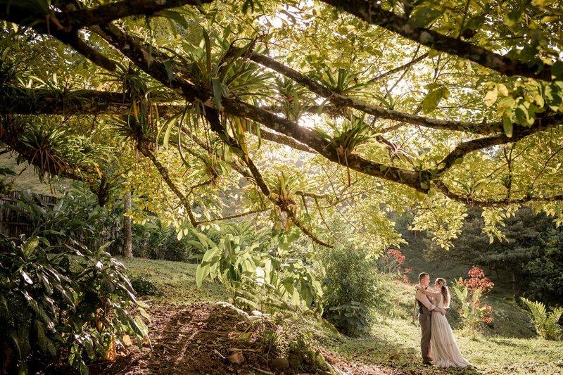 Couple at Costa Rica Wedding Venue