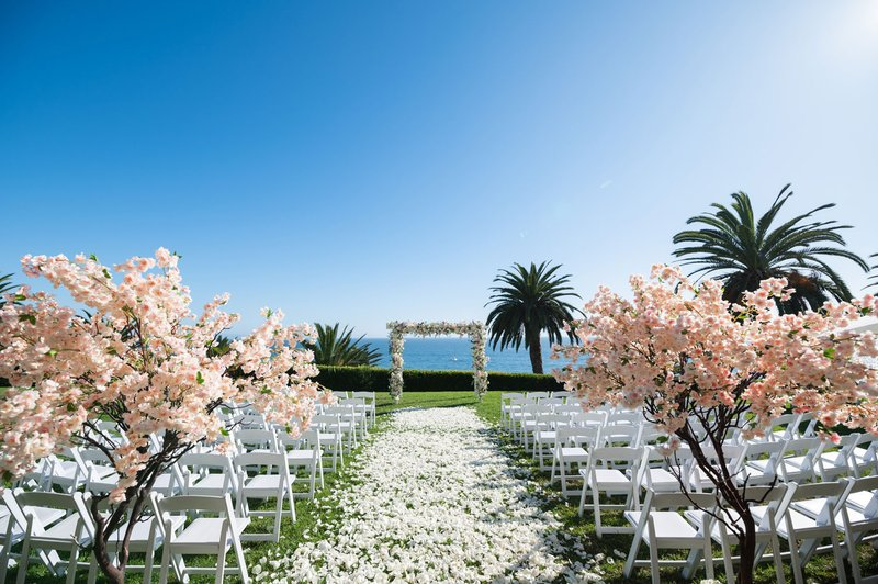 Ocean-View Ceremony with Cherry Blossoms