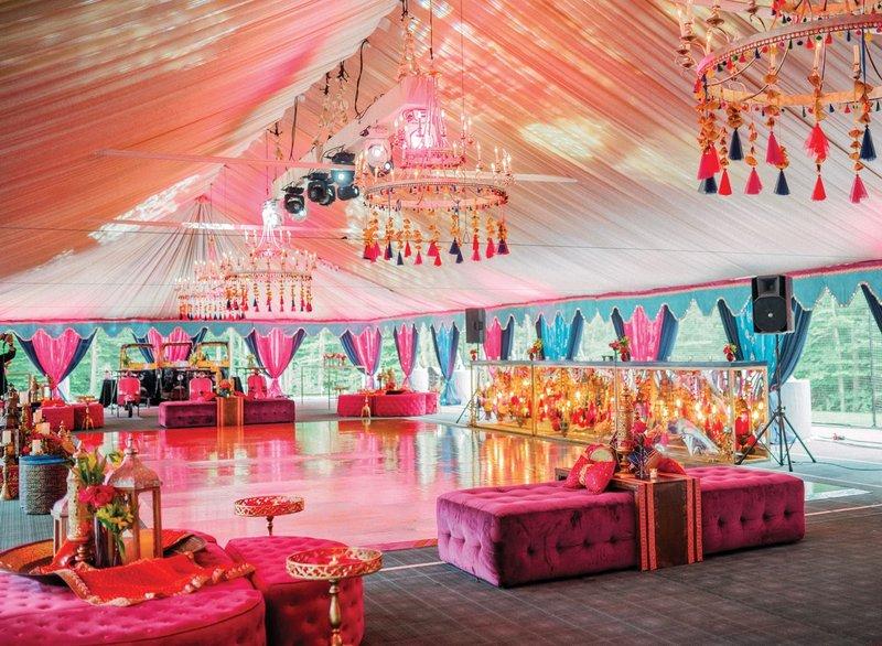 Colorful Sangeet Under Tent