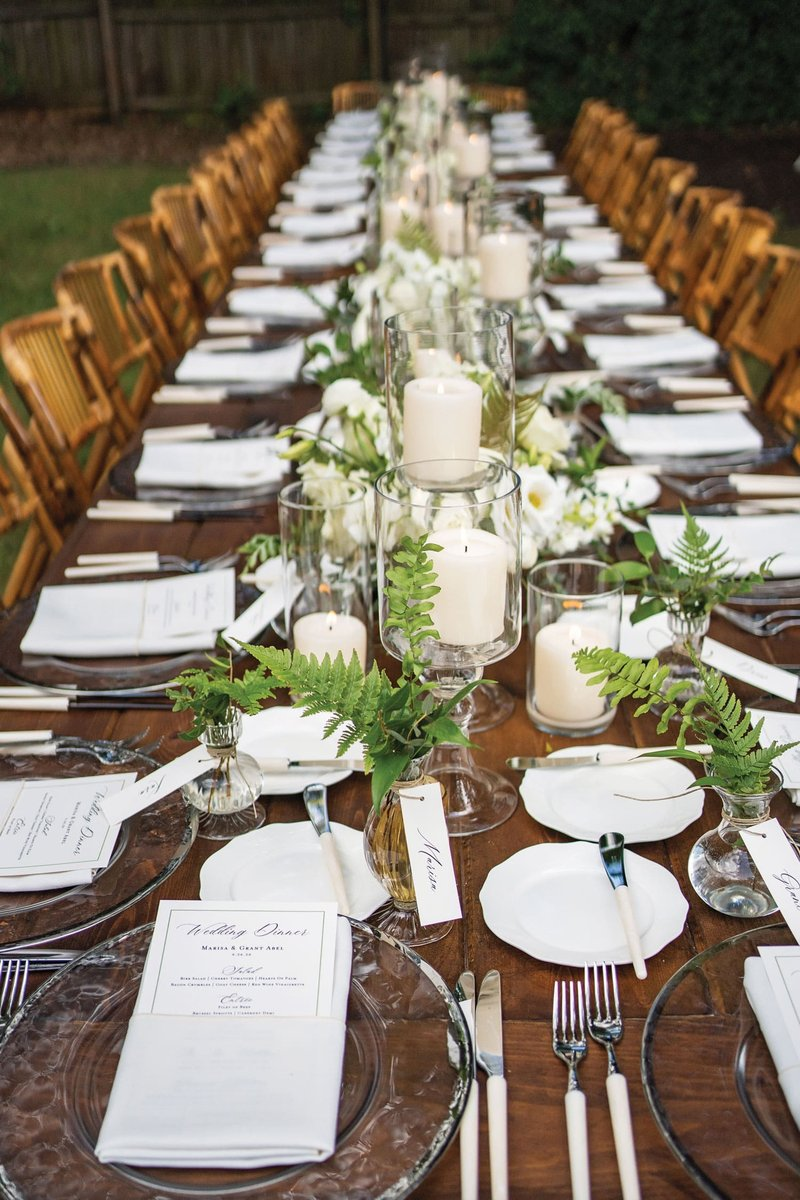 Intimate Wedding at One Table