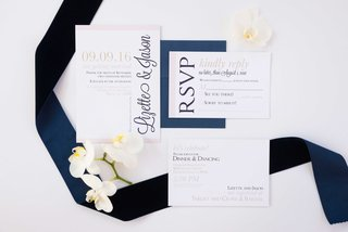 simple-blue-white-invitation-suite-white-orchids-ribbon-calligraphy